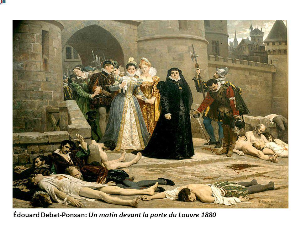Édouard Debat-Ponsan: Un matin devant la porte du Louvre 1880