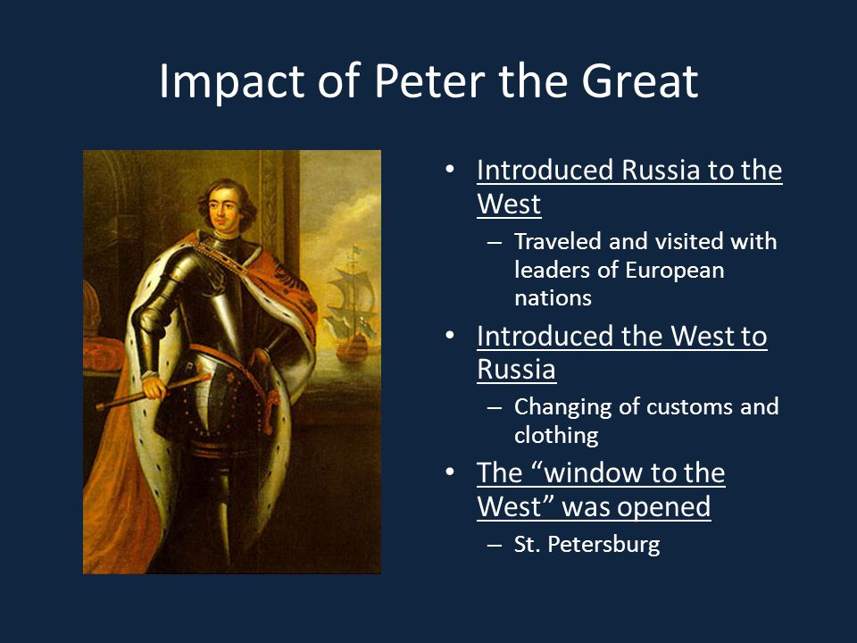 Impact of Peter the Great