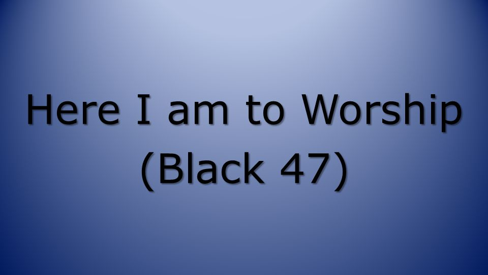 Here I am to Worship (Black 47)
