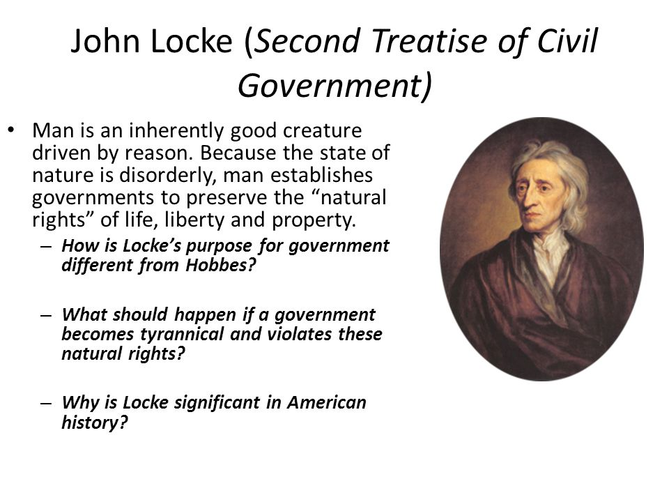 John Locke (Second Treatise of Civil Government)