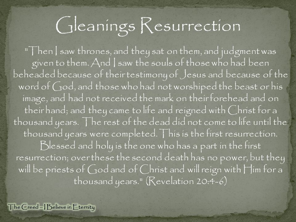 Gleanings Resurrection