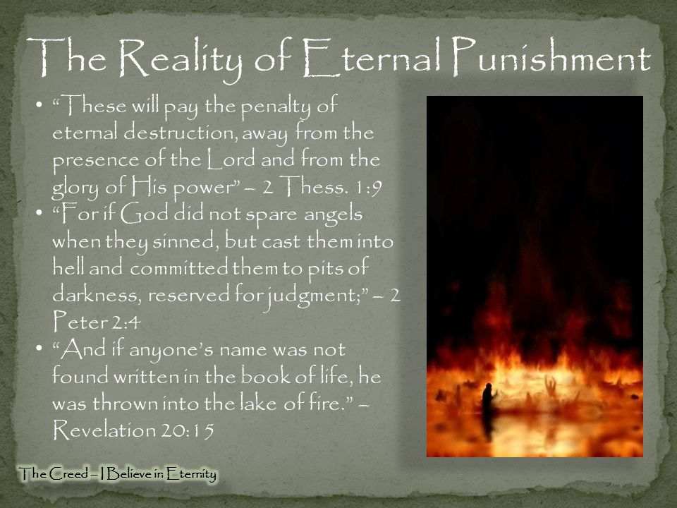The Reality of Eternal Punishment