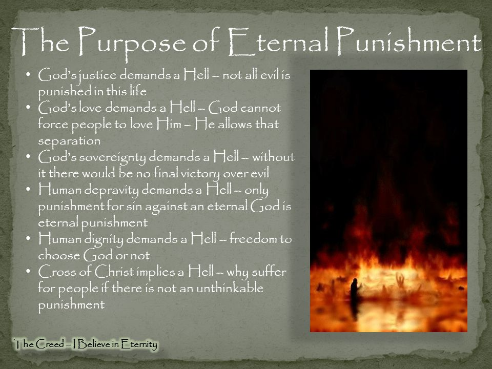 The Purpose of Eternal Punishment