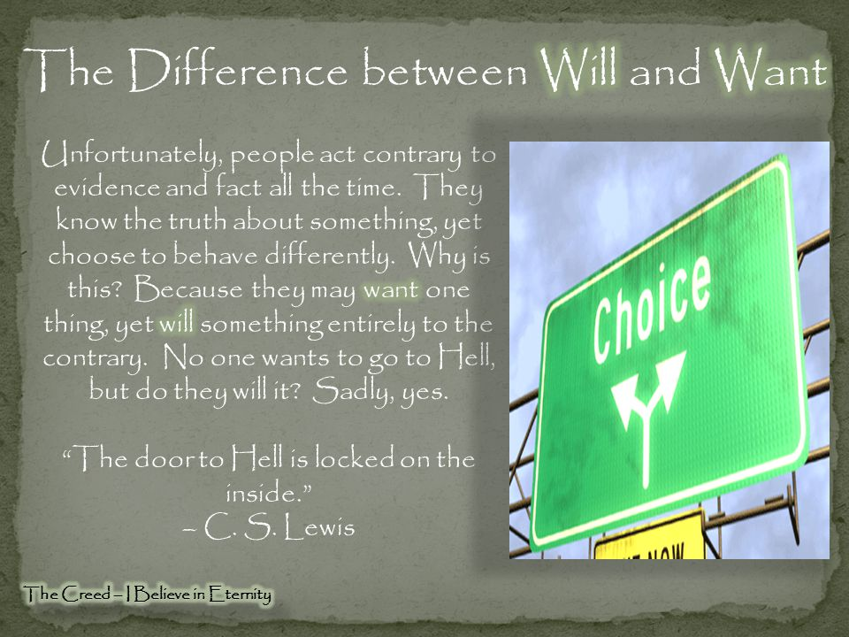 The Difference between Will and Want