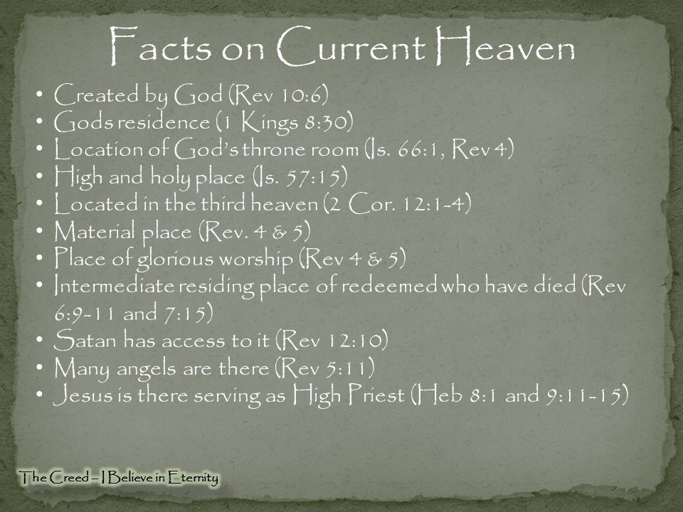 Facts on Current Heaven