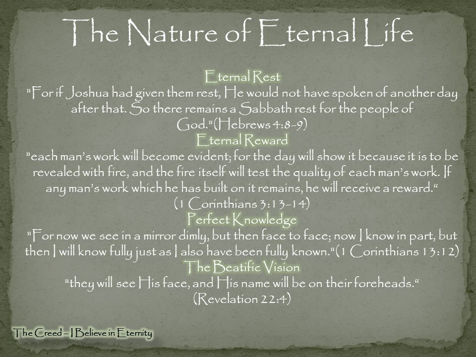 The Nature of Eternal Life
