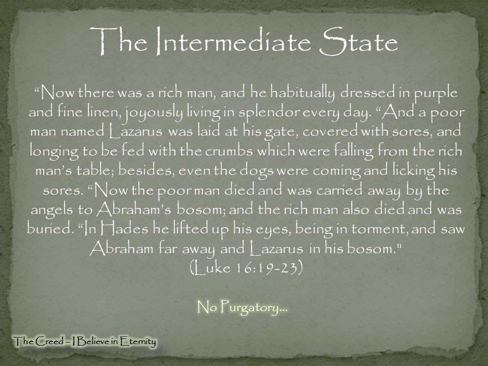 The Intermediate State