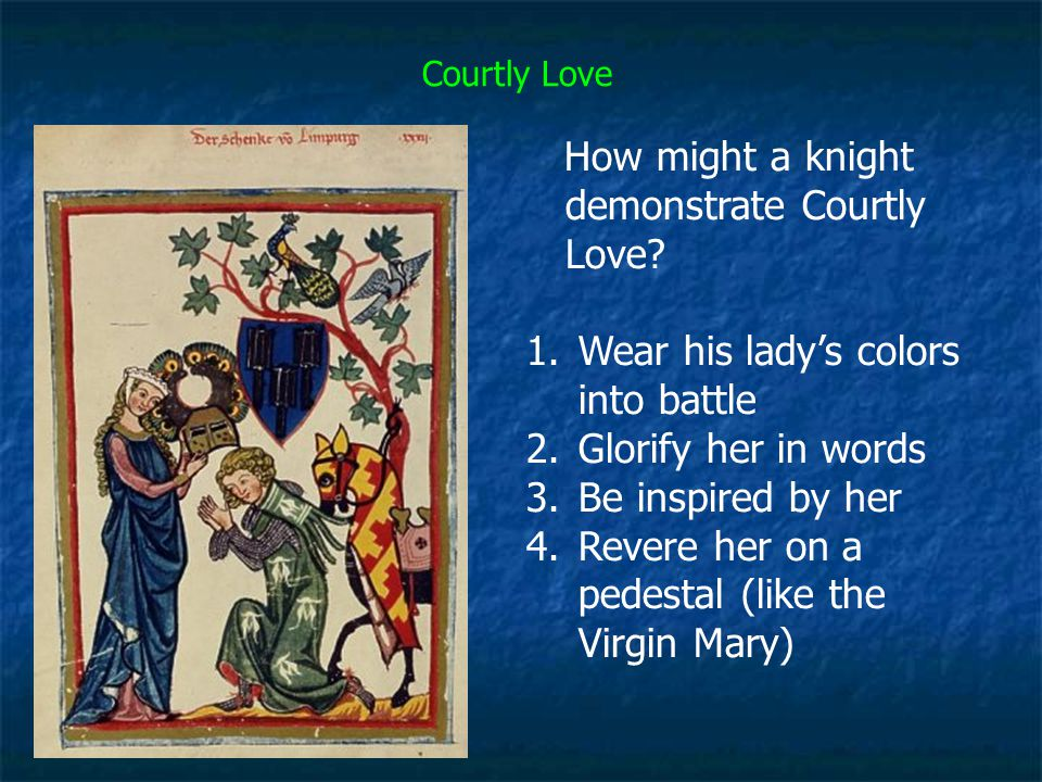How might a knight demonstrate Courtly Love