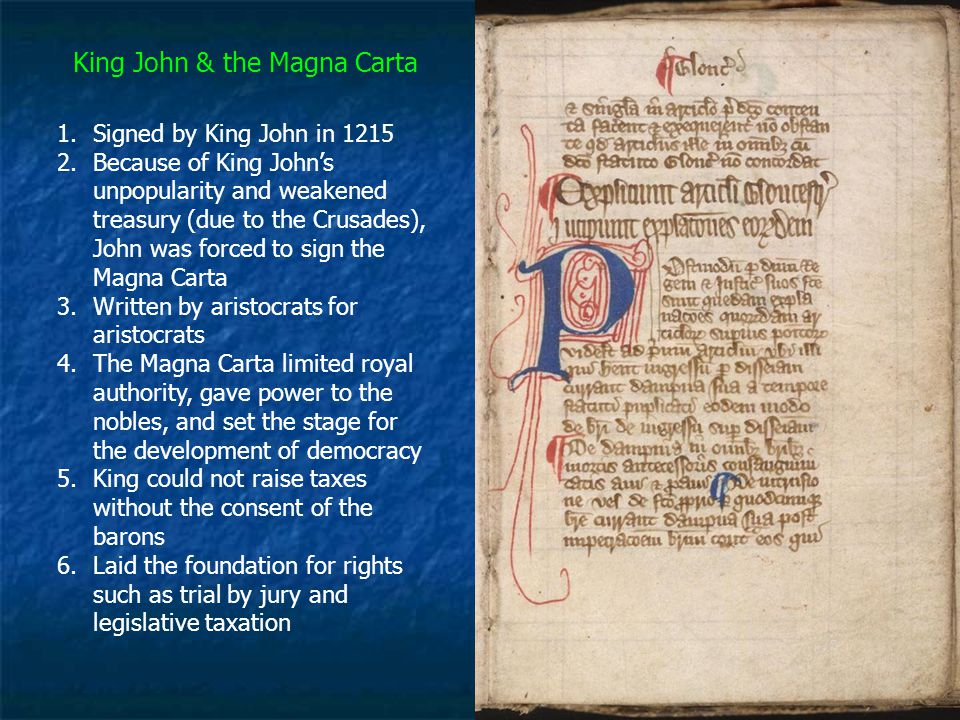 King John & the Magna Carta