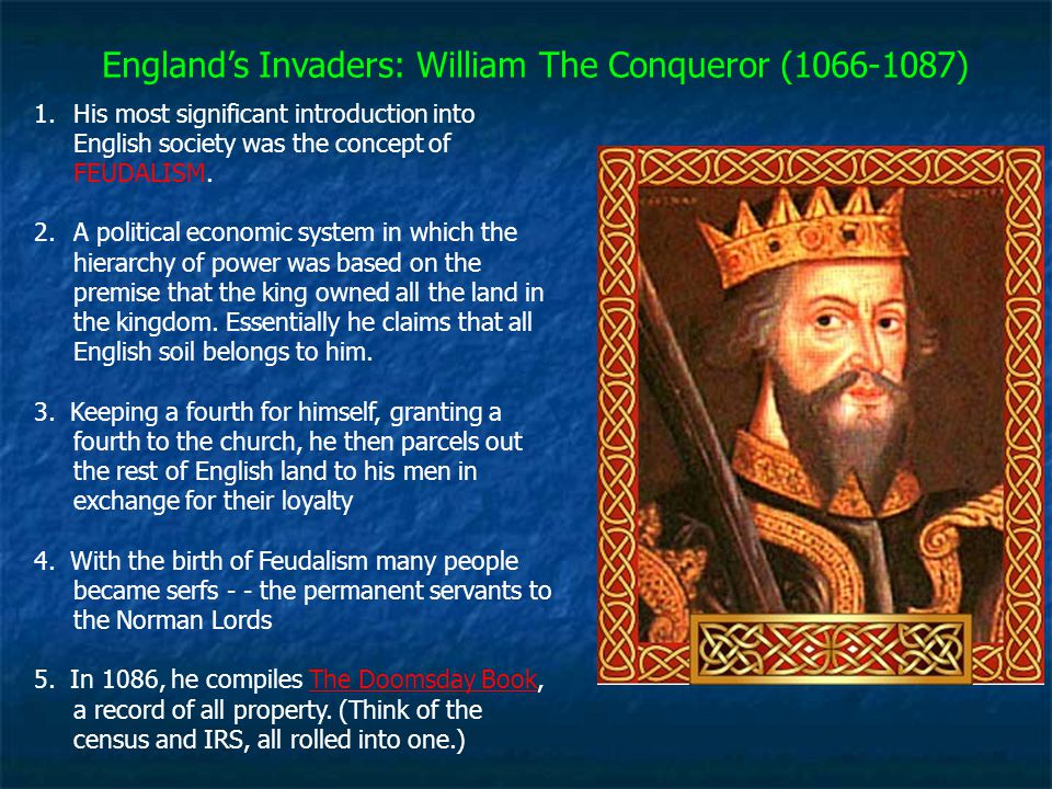 England's Invaders: William The Conqueror (1066-1087)