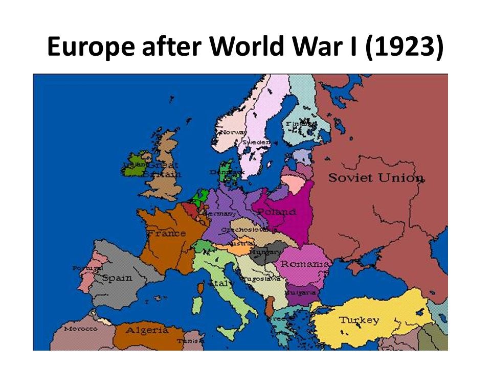 Europe after World War I (1923)
