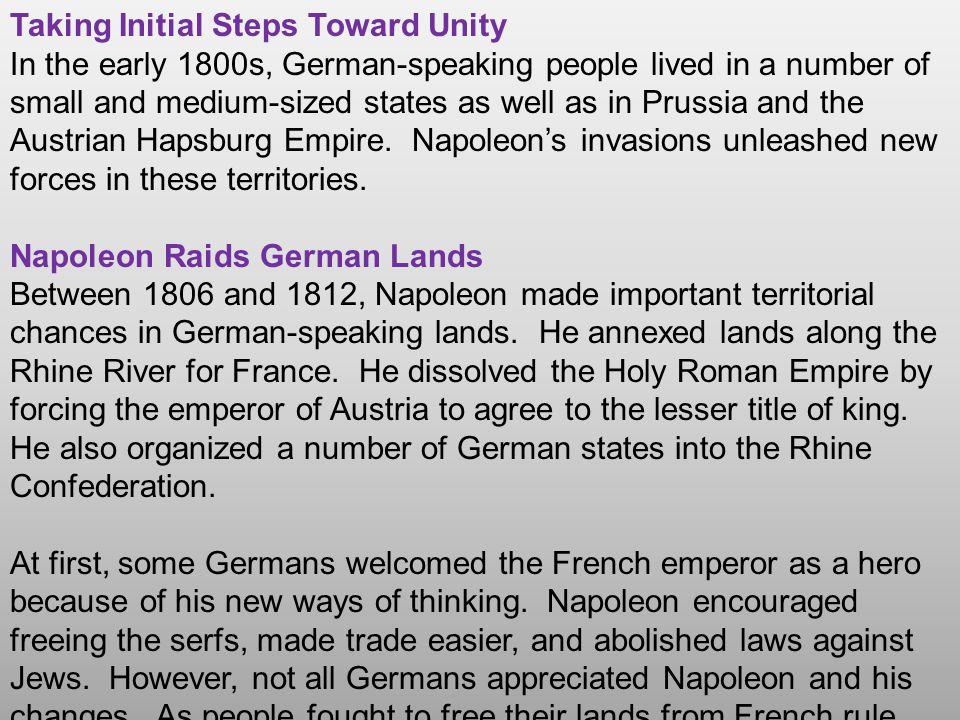 Taking Initial Steps Toward Unity