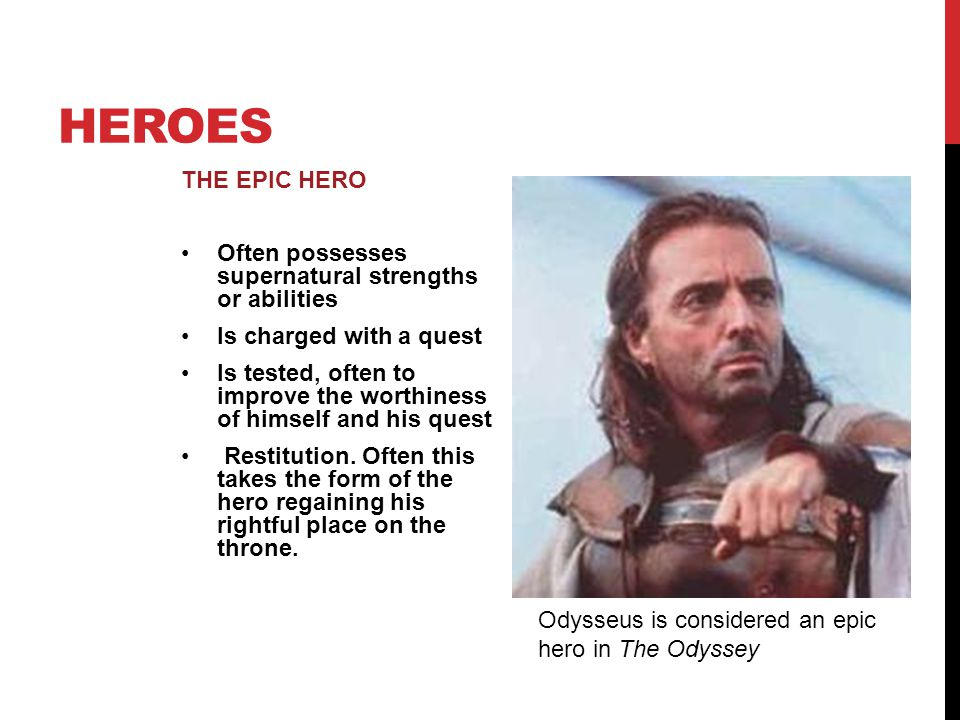 epic hero analysis odyssey An analysis of the traits of an epic hero in odyssey by homer pages 1 words 437 view full essay more essays like this: the odyssey, homer, an epic hero not sure what i'd do without @kibin - alfredo alvarez, student @ miami university exactly what i needed - jenna kraig, student @ ucla wow most helpful essay resource ever.
