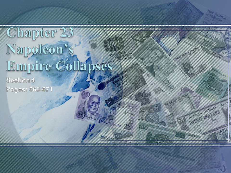Chapter 23 Napoleon's Empire Collapses