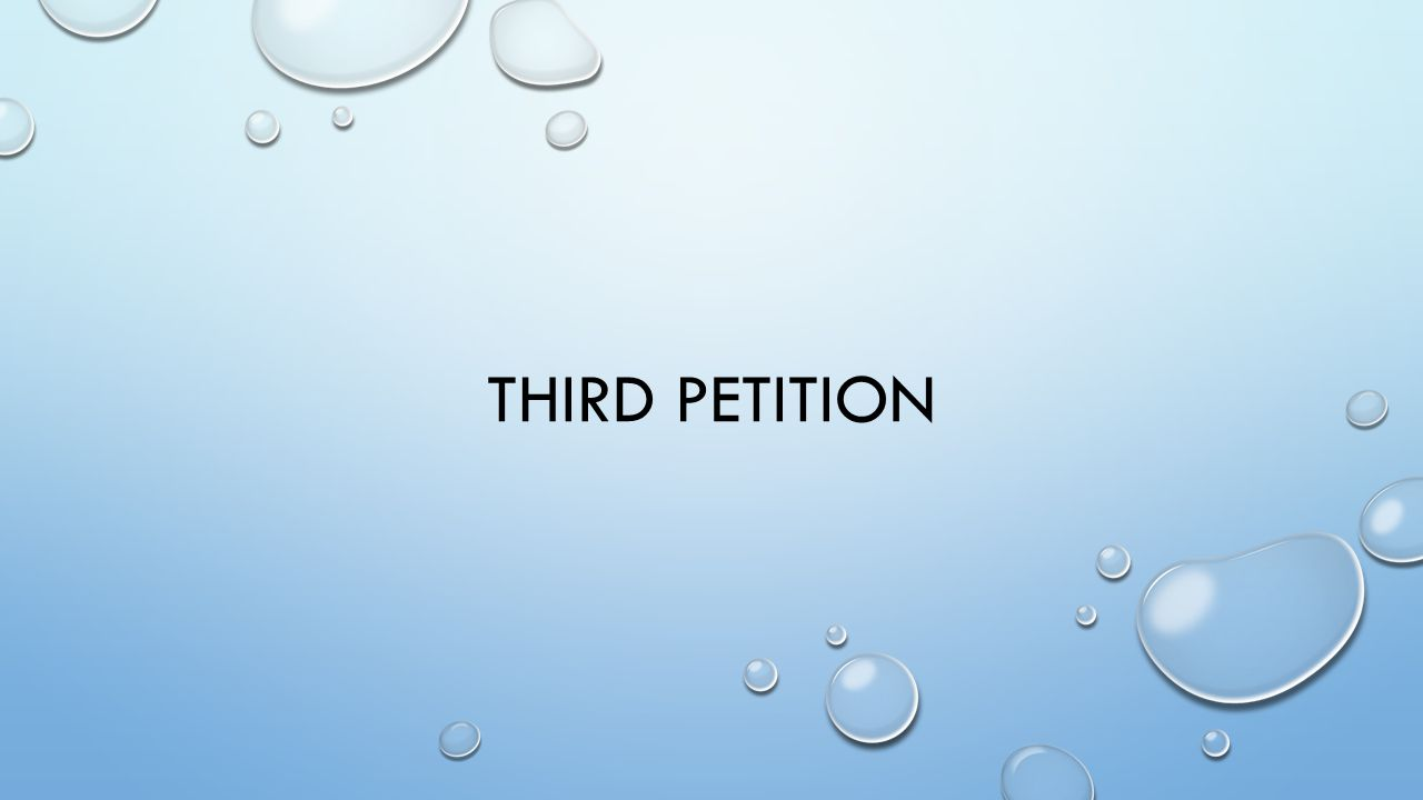 Third Petition