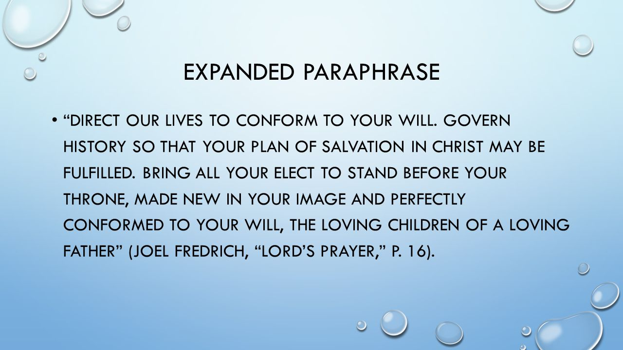 Expanded Paraphrase