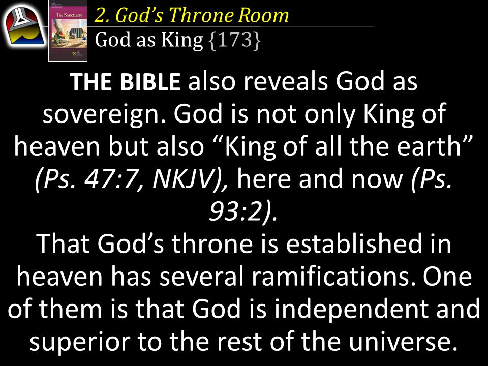 2. God's Throne Room God as King {173}