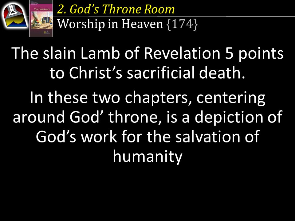 The slain Lamb of Revelation 5 points to Christ's sacrificial death.