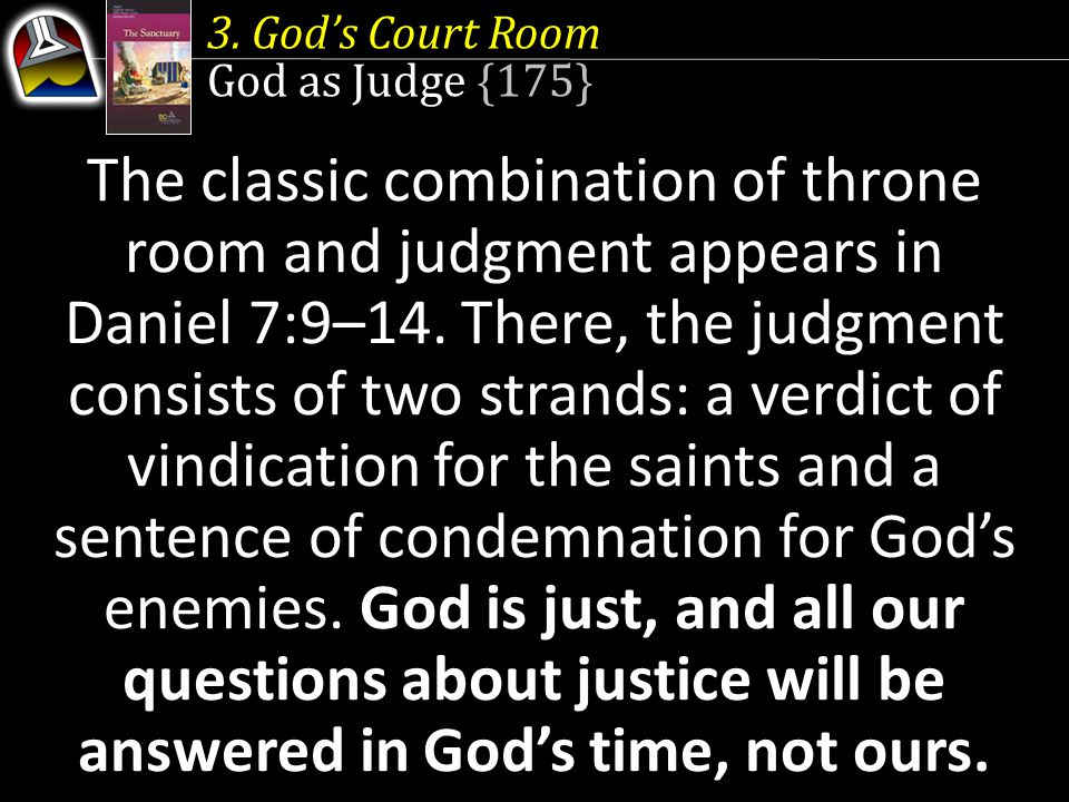 3. God's Court Room God as Judge {175}