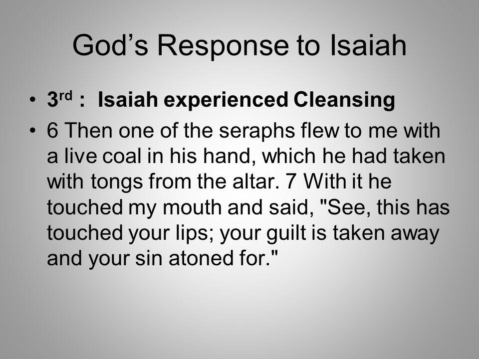 God's Response to Isaiah