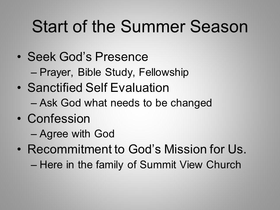 Start of the Summer Season