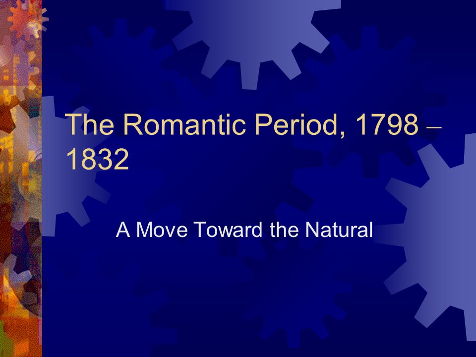 A Move Toward the Natural