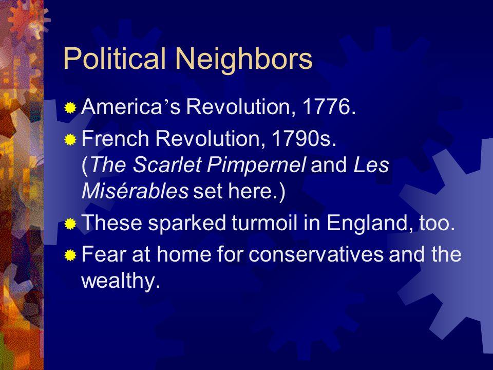 Political Neighbors America's Revolution, 1776.