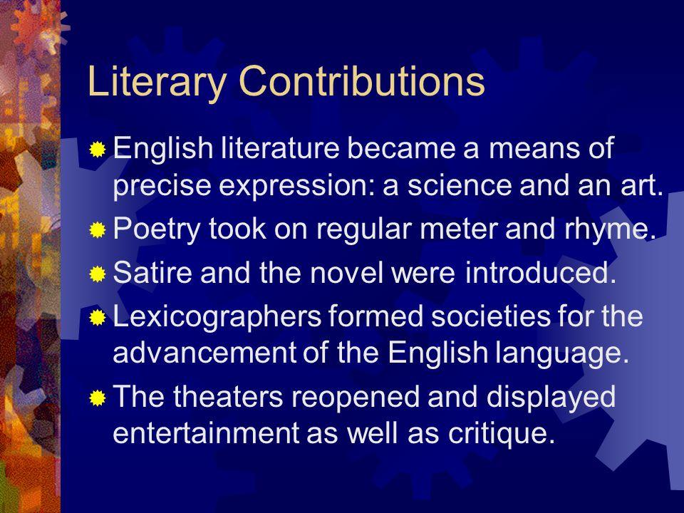 Literary Contributions
