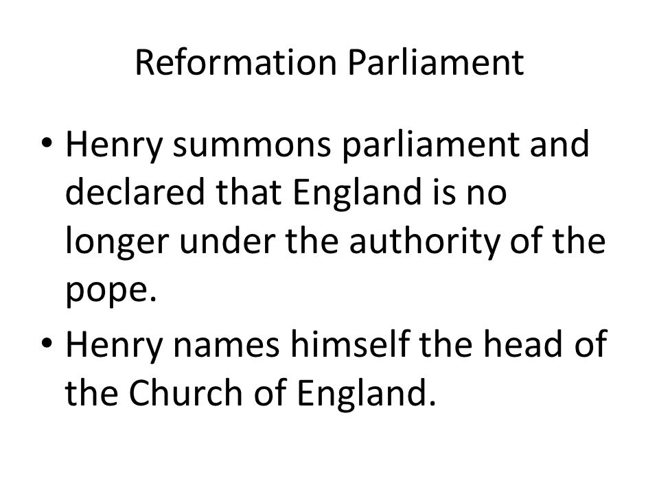 Reformation Parliament