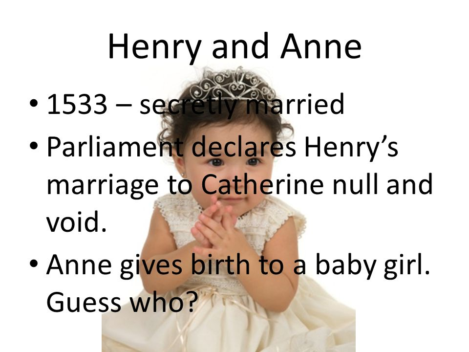 Henry and Anne 1533 – secretly married