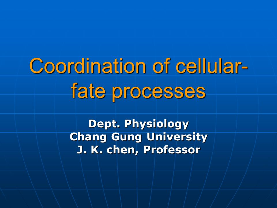 Coordination of cellular-fate processes