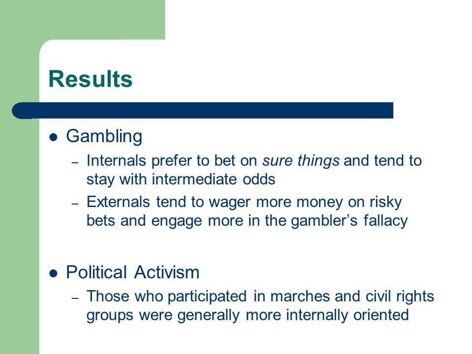 Results Gambling Political Activism