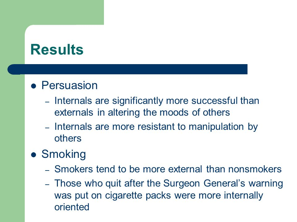 Results Persuasion Smoking