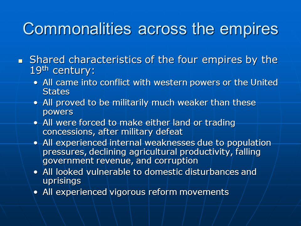 Commonalities across the empires