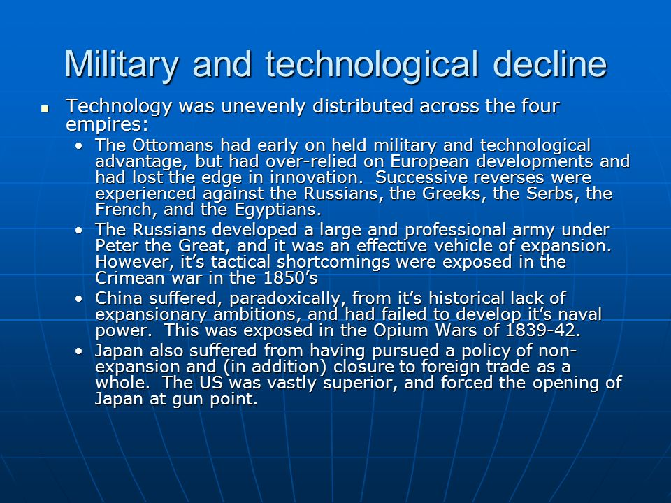 Military and technological decline