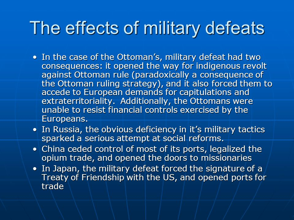 The effects of military defeats