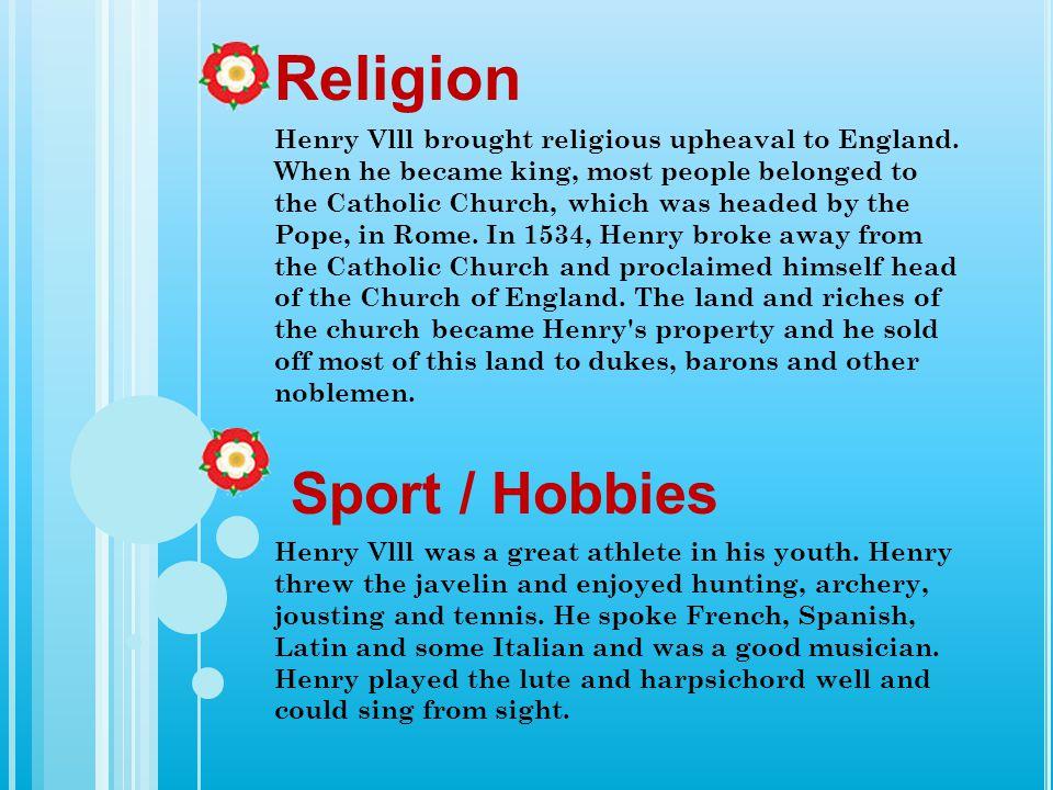 Religion Sport / Hobbies
