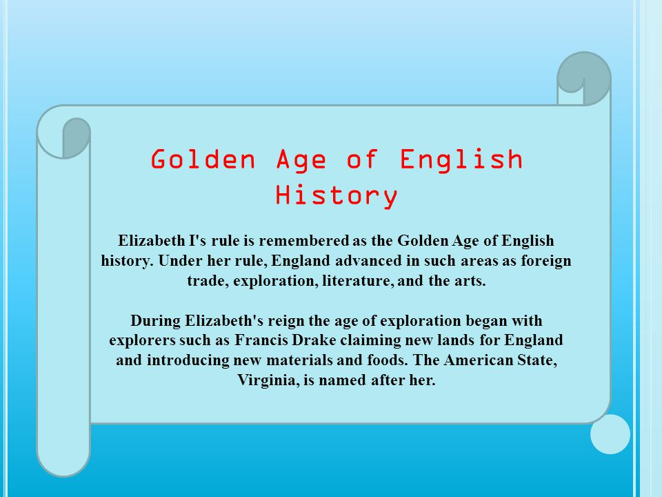 Golden Age of English History
