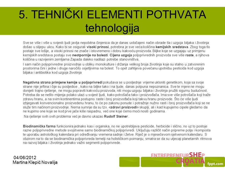 5. TEHNIČKI ELEMENTI POTHVATA tehnologija