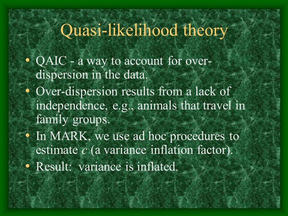 Quasi-likelihood theory