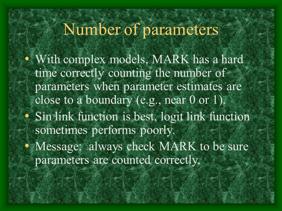 Number of parameters