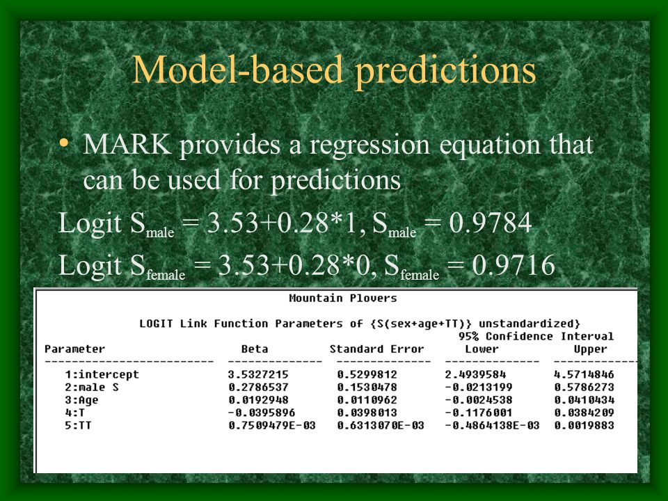 Model-based predictions