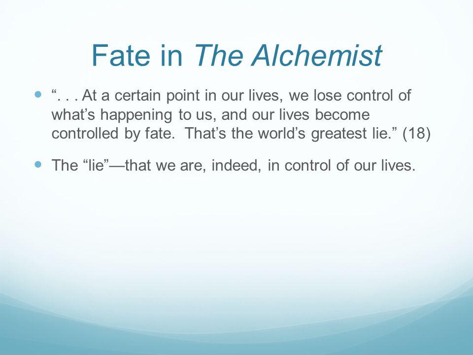 Fate in The Alchemist