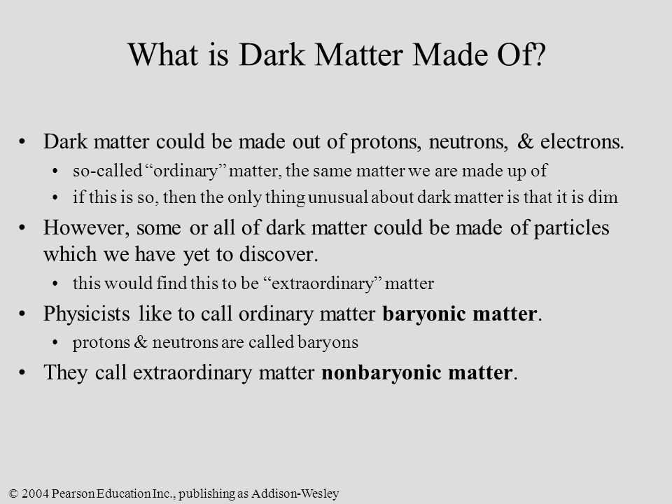 What is Dark Matter Made Of
