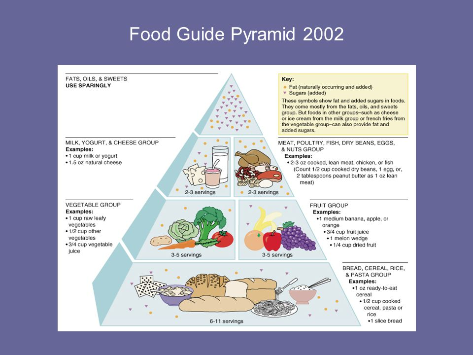 Food Guide Pyramid 2002