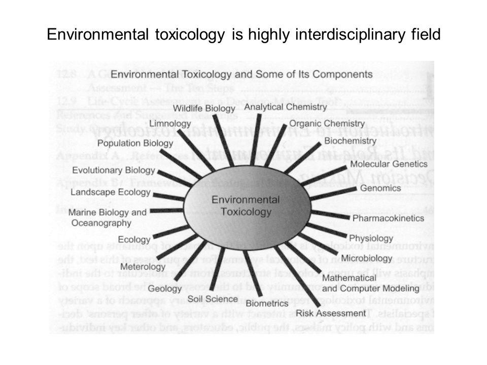 Environmental toxicology is highly interdisciplinary field