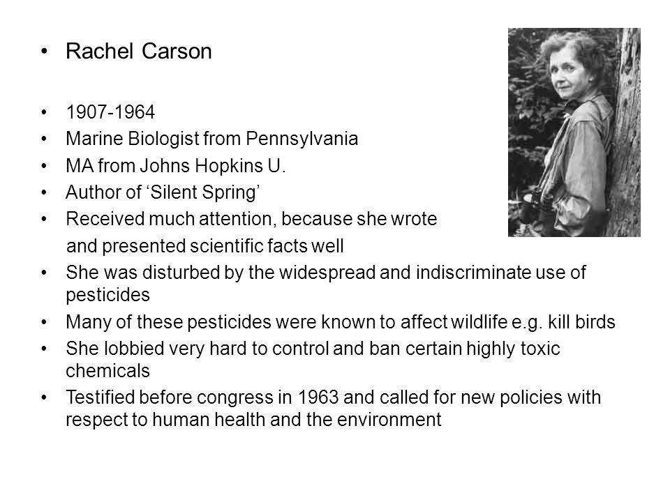 Rachel Carson 1907-1964 Marine Biologist from Pennsylvania