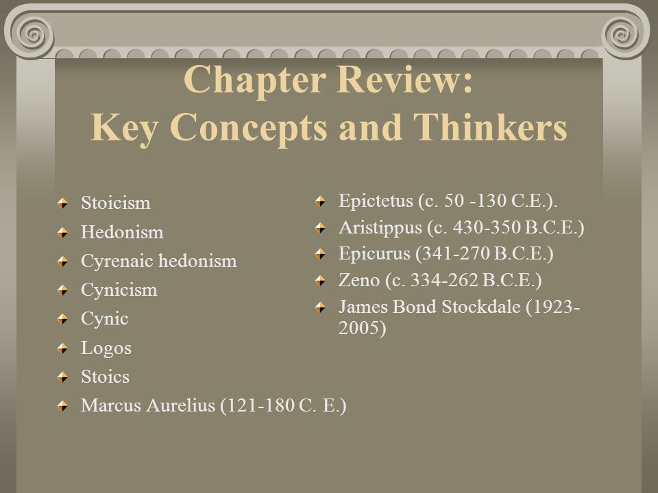 Chapter Review: Key Concepts and Thinkers