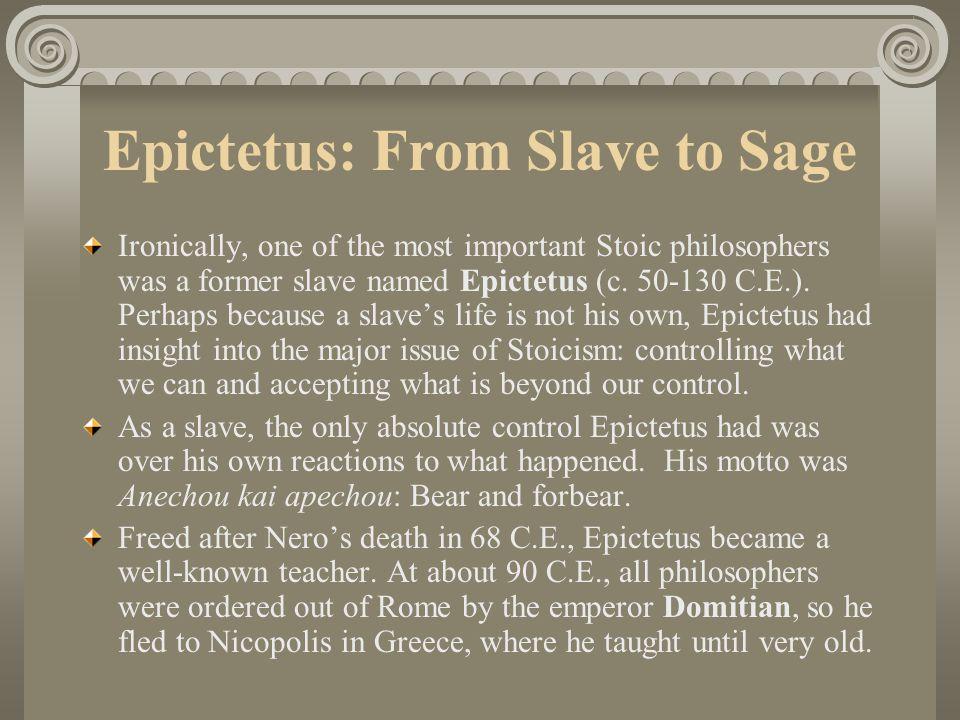 Epictetus: From Slave to Sage