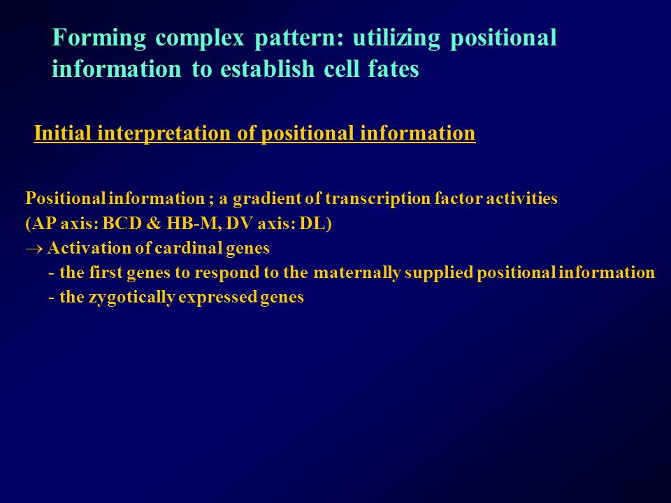 Forming complex pattern: utilizing positional
